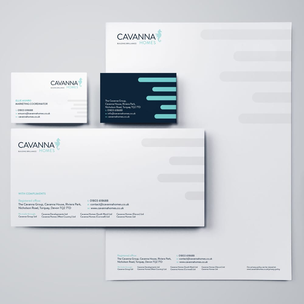 Cavanna Homes redesigned stationery and business cards
