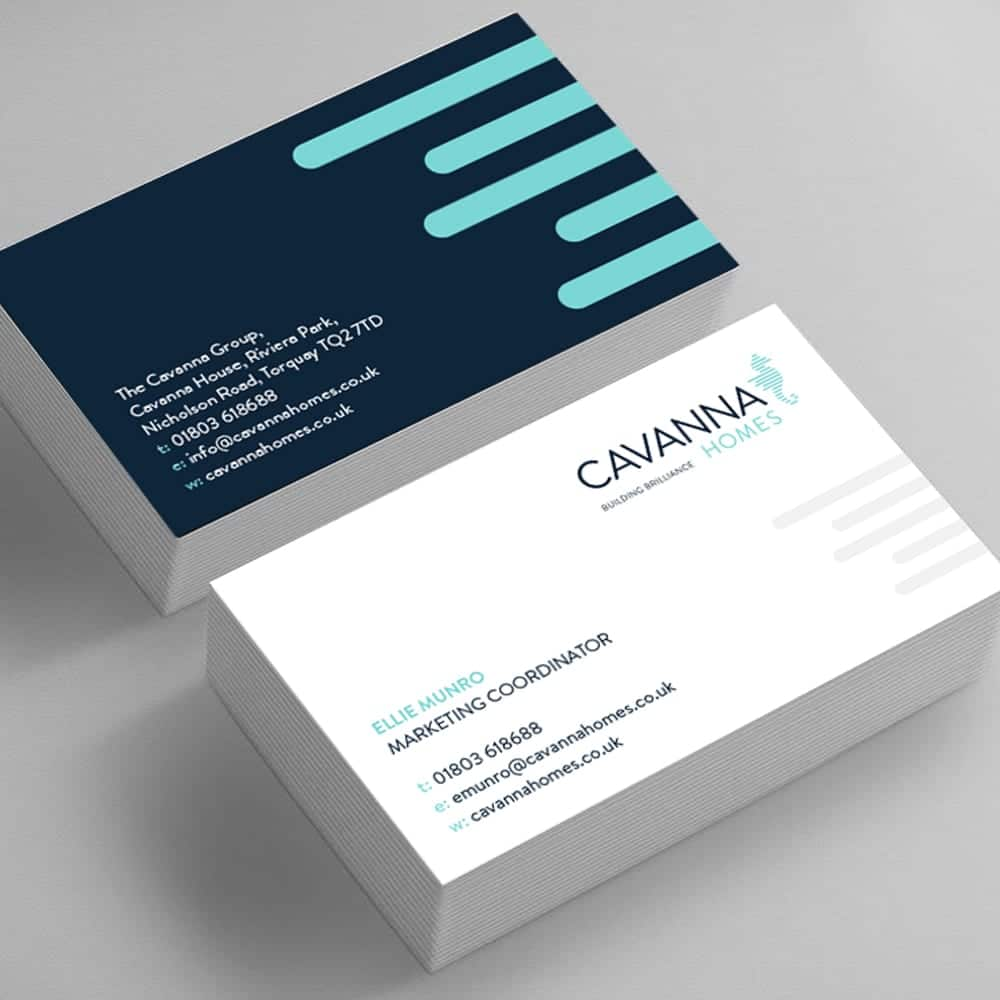 Cavanna Homes redesigned business cards